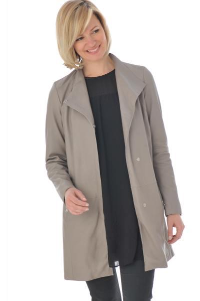 Manteau d'été femme en cuir coloris yemen              title=