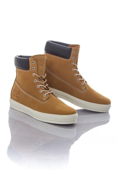 Chaussures montantes Redskins en cuir couleur Miel              title=