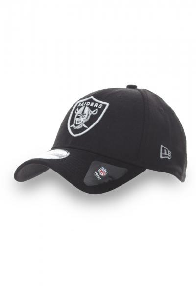 Casquette Noire New Era pour Homme bi matière Los Angeles Raiders              title=