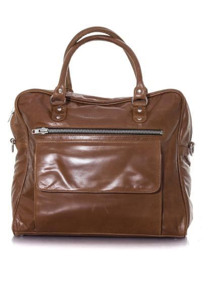 Tasche aus ochsenblutfarbenem Leder