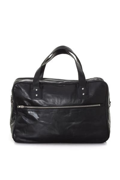 Reisetasche aus schwarzem Büffelleder
