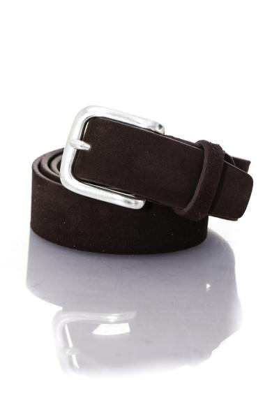 Ceinture aspect velours marron               title=