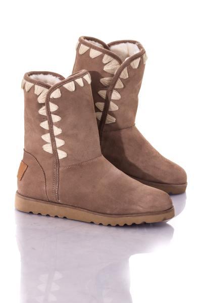 Damen-Boots in maulwurfsfarbener Wildleder-Optik              title=