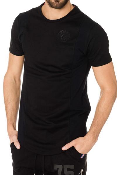 Tee-shirt PSG noir avec flocage blanc au dos              title=