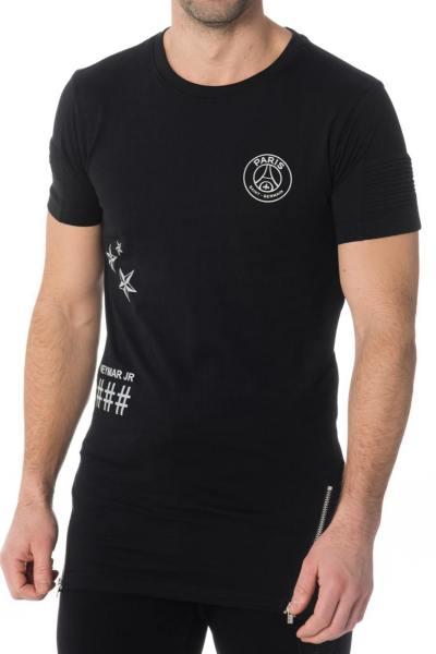 Tee-shirt enfant noir PSG               title=