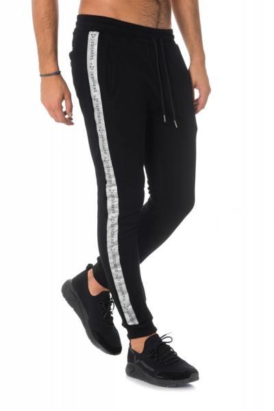 Pantalon de jogging noir avec bandes argentées The New Designers              title=