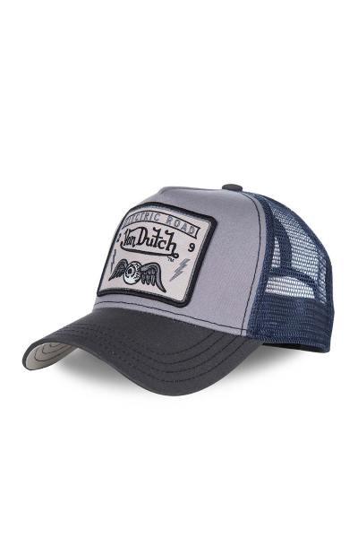 Marineblau-graue Kappe mit gelügeltem Auge              title=