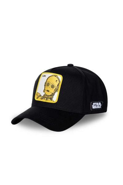 schwarze Kappe mit C-3PO aus STAR WARS              title=