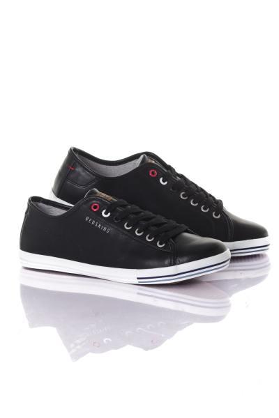 schwarze Herren Sneakers mit heller Sohle              title=