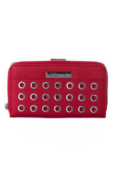 Porte monnaie rouge femme              title=