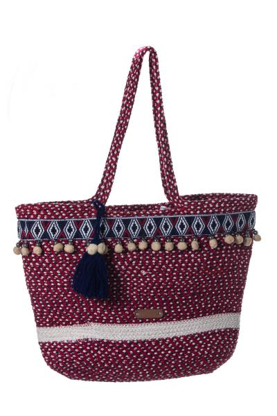 Grand sac rouge femme              title=