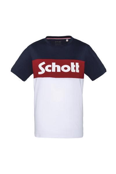 schwarz-weiß rotes Herren T-Shirt
