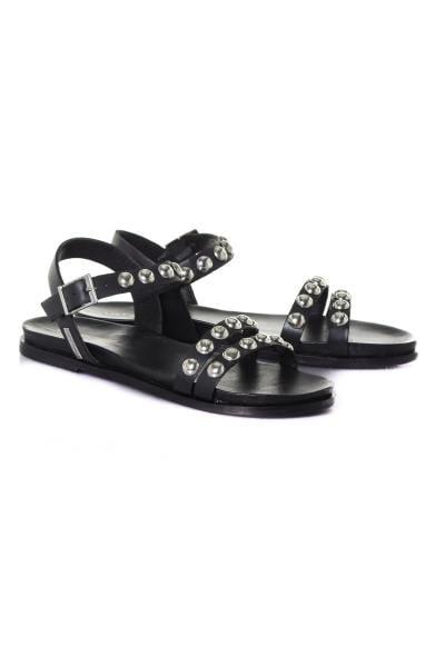 Sandale en cuir avec rivets              title=