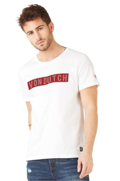 T-Shirt weißes rotes Logo