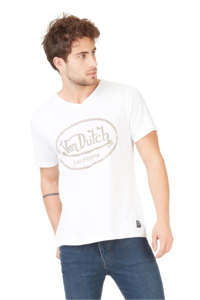 Tshirt blanc col V              title=