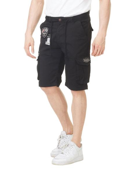Marineblaue Shorts mit Flecken               title=