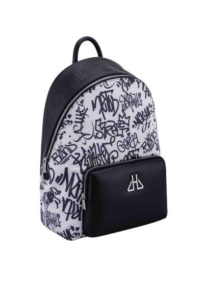 Schwarz-Weiß Graffiti-Tasche