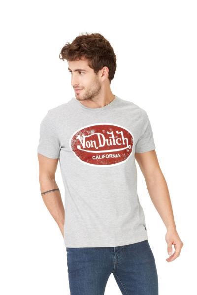 T-shirt homme gris clair chiné              title=