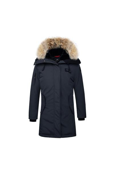 Veste Femme Helvetica EXPEDITION WOMEN RACCOON ED NAVY 2K20