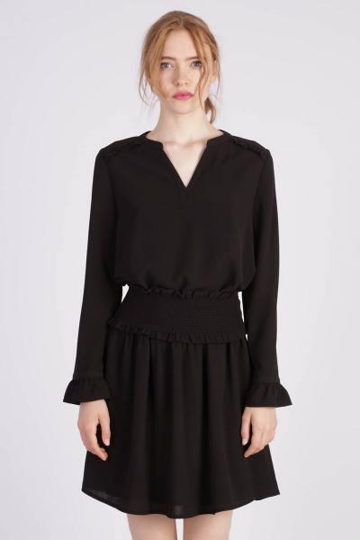 Schwarzes schickes Kleid für Frauen              title=