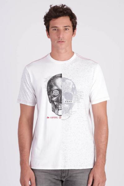 herren T-shirt kaporal GRISA WHITE MELANGED              title=