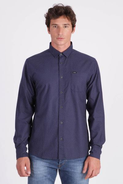Chemise bleu avec imprimé              title=