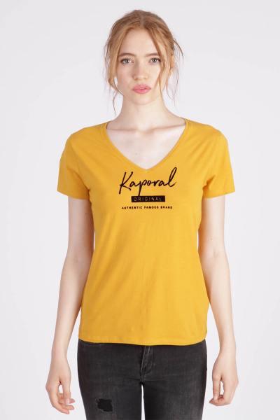 Gelbes T-Shirt mit Passform