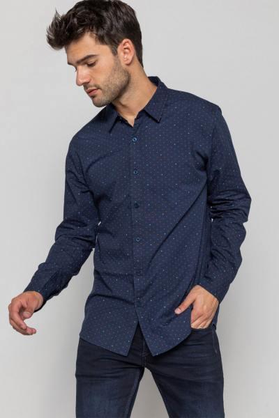 Marineblaues Hemd für Männer