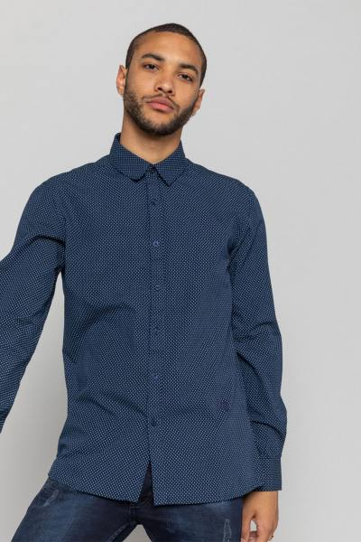 Chemise bleu foncé homme