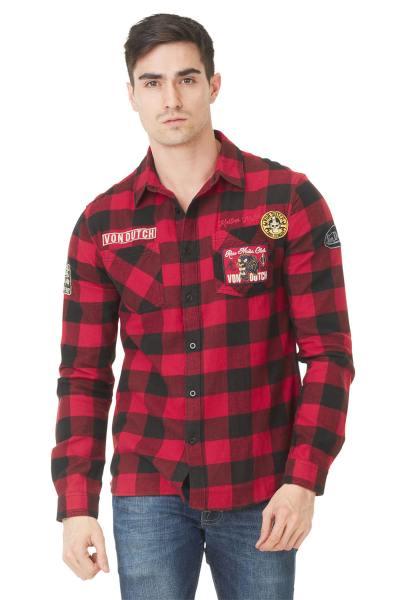Chemise à carreaux rouge              title=
