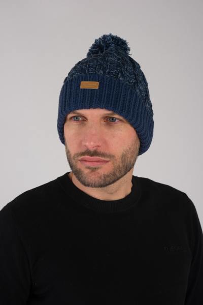 bonnet homme bleu              title=