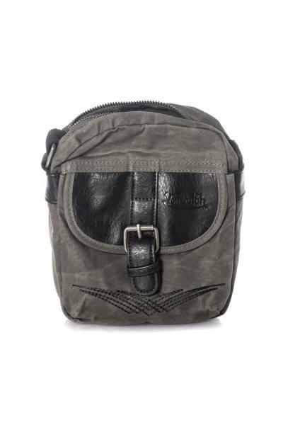 Schwarze und graue Tasche