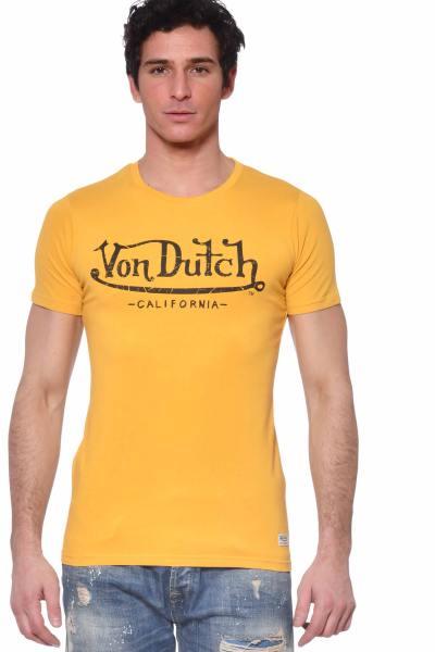 Tee-shirt homme jaune uni              title=