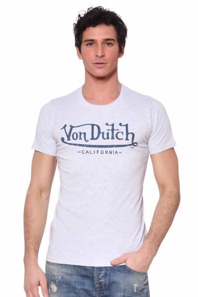 Tee-shirt blanc avec logo à la poitrine              title=