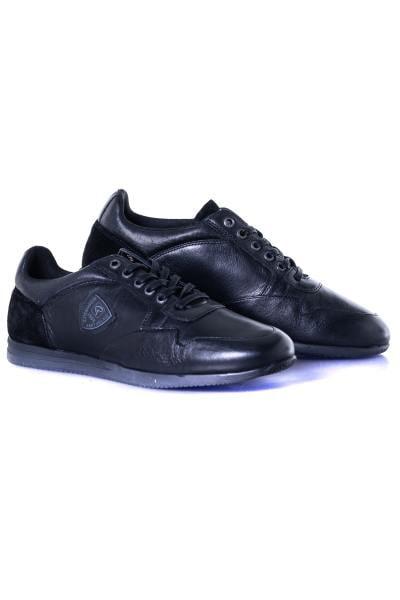 herren Ledersneakers chaussures redskins LORISA NOIR NOIR