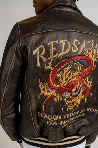 Blouson en cuir Redskins Vintage dragon