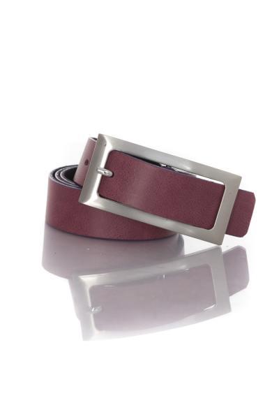 Damengürtel Vanzetti aus violettem Leder              title=