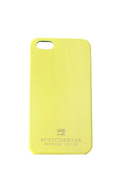 Coque Iphone 5 Scotch and Soda jaune              title=
