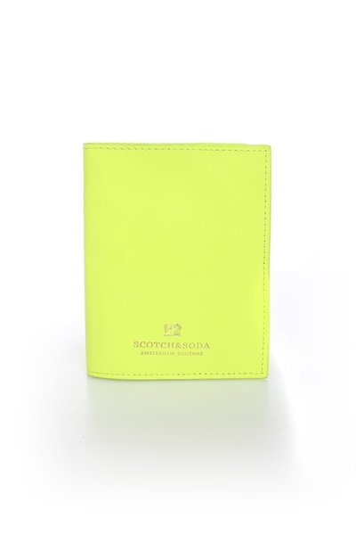 Porte-cartes jaune Scotch and Soda Homme              title=