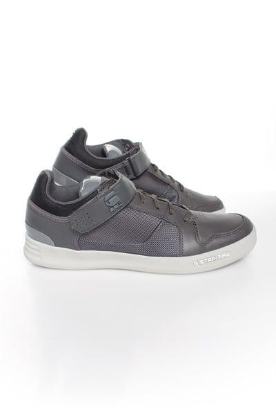 Baskets en cuir Homme GStar Footwear YARD BULLION LO DK GREY LEATHER & TEXTILE