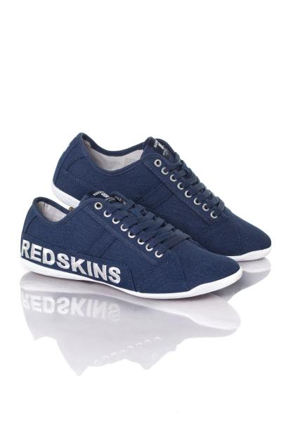 Baskets en toile bleu Redskins