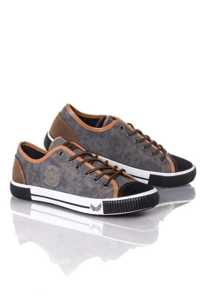 Baskets en toile Homme Kaporal Shoes DONA NOIR CAMEL