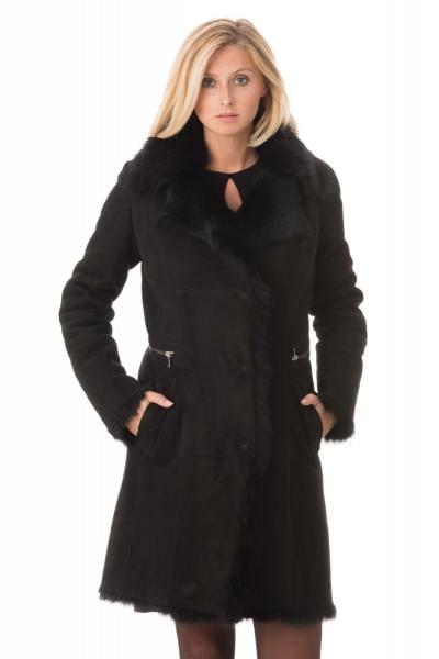 Manteau en mouton retourné noir