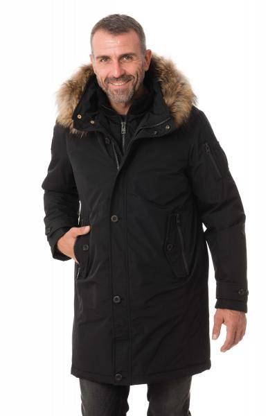 Manteau en polyester NOIR