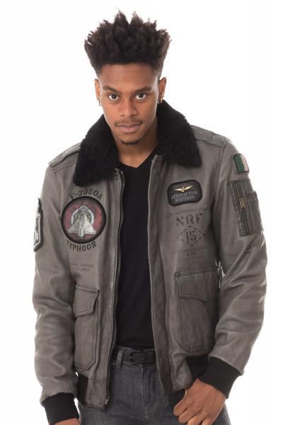 Blouson Homme Aeronautica Militare GIUBBINO PN8991807 ANTHRACITE