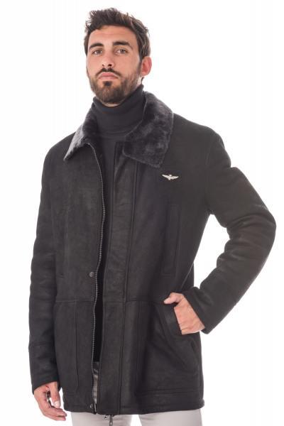 Manteau chic pour homme style aviateur