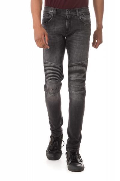 schwarze Skinny-Jeans im Washed-Look