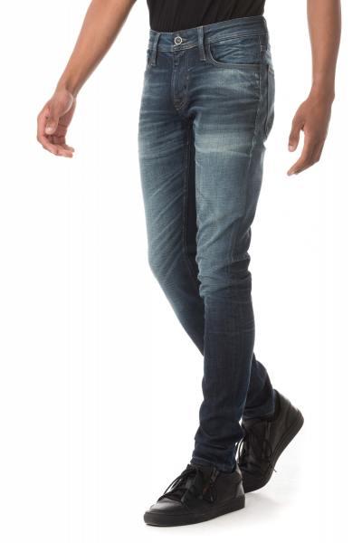 blaue Herren-Jeans im Skinny-Schnitt