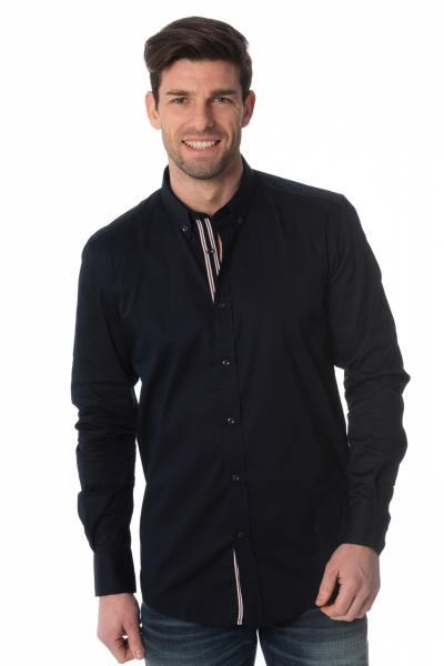 marineblaues Herrenhemd Antony Morato