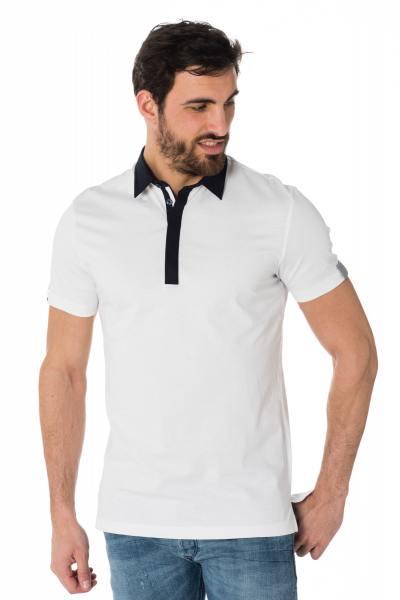 weiß-marineblaues Polo-Shirt Antony Morato              title=